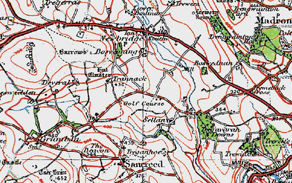 Old map of Sellan in 1919