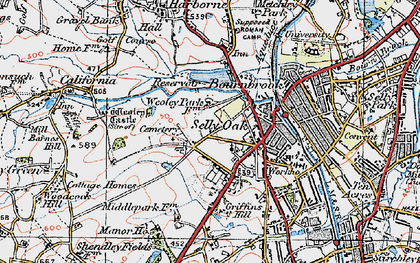 Old map of Selly Oak in 1921