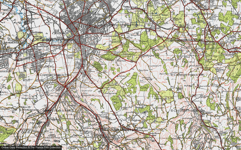 Old Map of Selsdon, 1920 in 1920