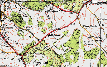 Old map of Selsdon in 1920