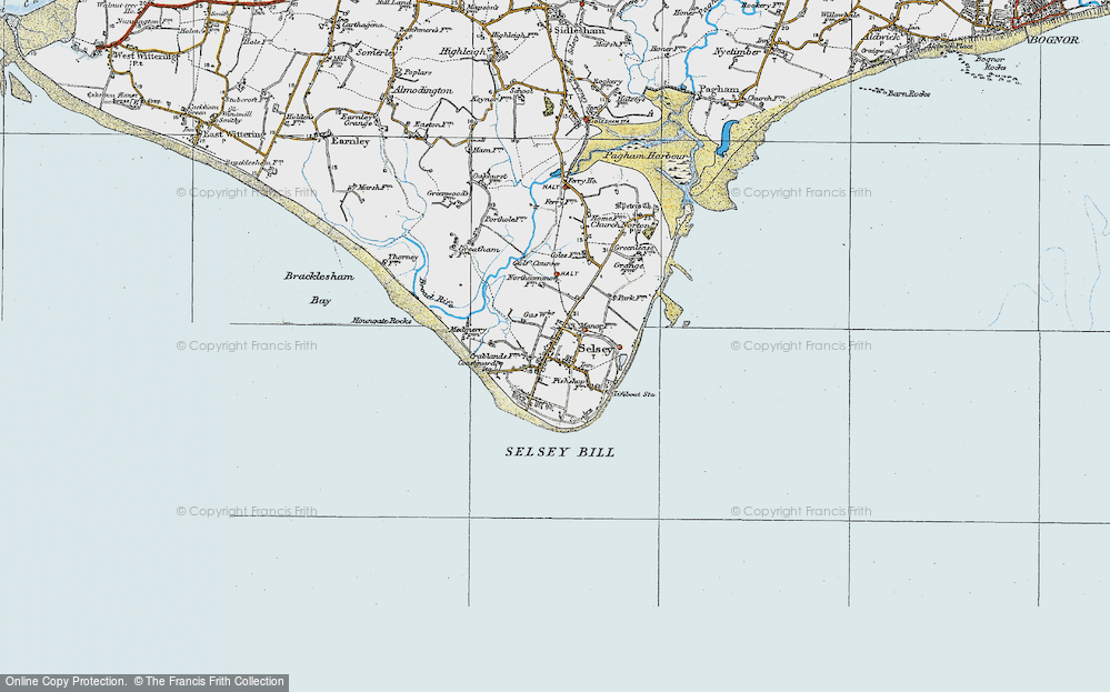 Old Map of Selsey, 1919 in 1919