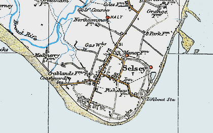 Old map of Selsey in 1919