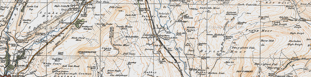 Old map of Alum Pot in 1925