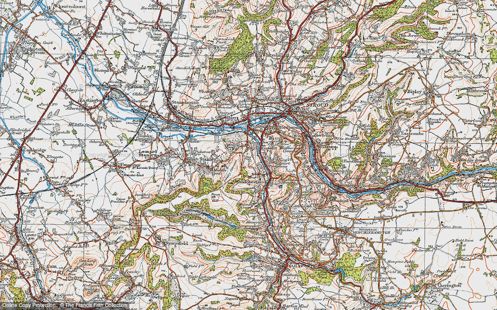 Old Map of Selsley, 1919 in 1919
