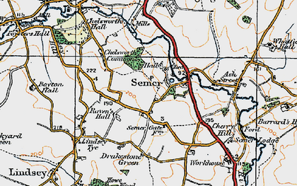 Old map of Semer in 1921