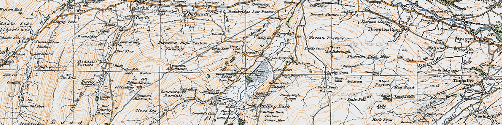 Old map of Wood End Lodge in 1925