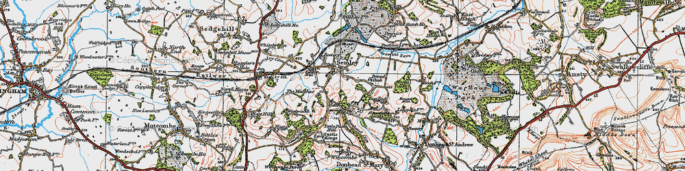 Old map of Tittle Path Hill in 1919