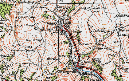 Old map of Senghenydd in 1919