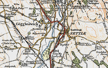 Old map of Settle in 1924