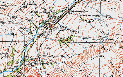 Old map of Seven Sisters in 1923