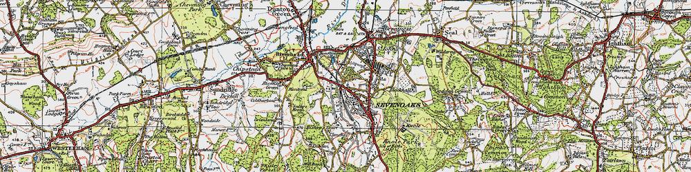 Old map of Sevenoaks in 1920