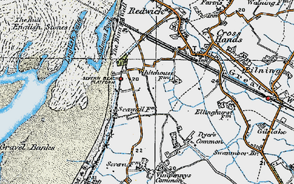 Old map of Severn Beach in 1919