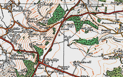 Old map of Air Balloon (PH) in 1919
