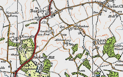 Old map of Abbotsbury in 1920