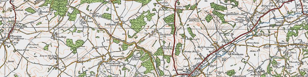 Old map of Shalden in 1919