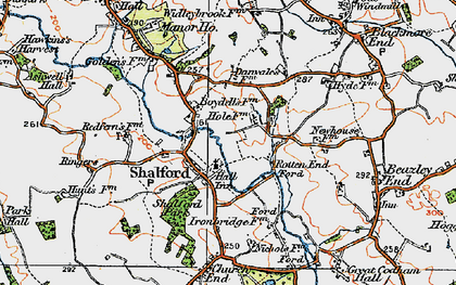 Old map of Shalford in 1921