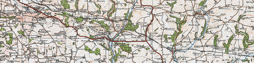 Old map of Whitehills Plantation in 1919