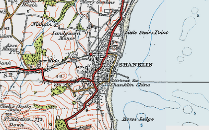 Old map of Shanklin in 1919
