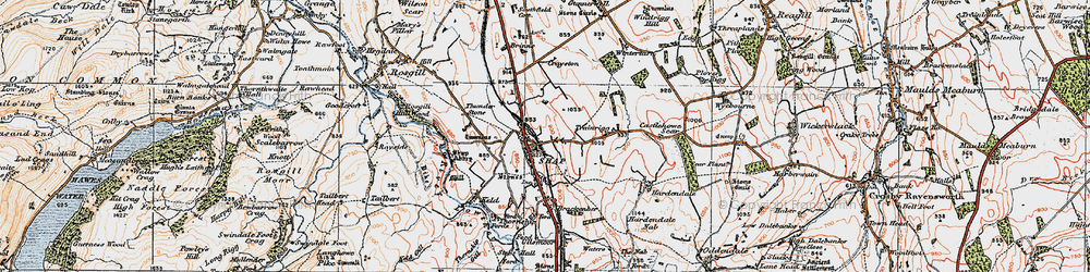 Old map of Wintertarn in 1925