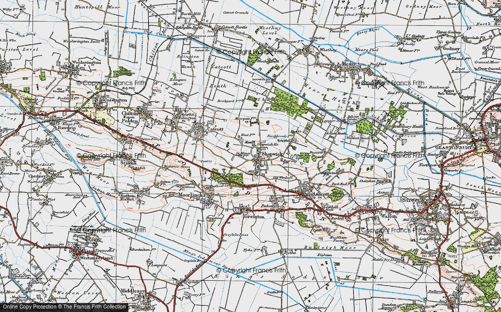 Old Map of Shapwick, 1919 in 1919