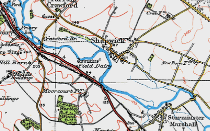 Old map of Westley Wood in 1919