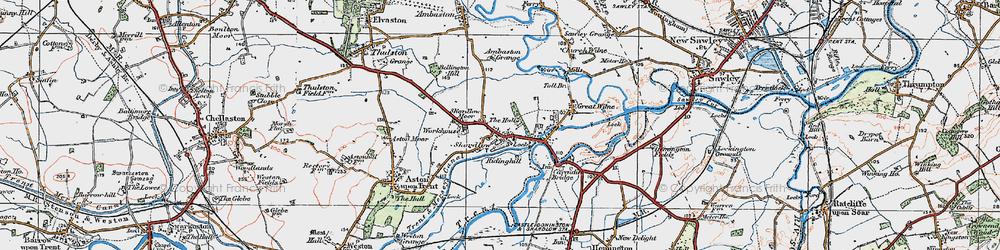 Old map of Ambaston Grange in 1921