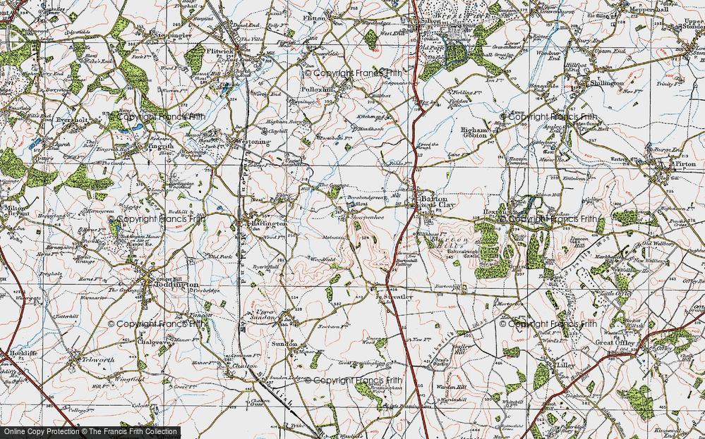 Old Map of Sharpenhoe, 1919 in 1919