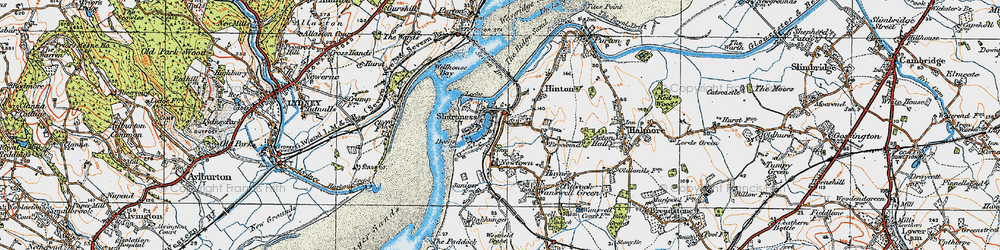 Old map of Sharpness in 1919