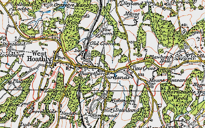 Old map of Sharpthorne in 1920