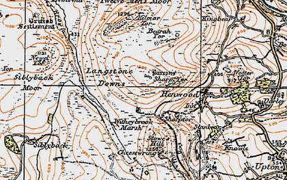 Old map of Witheybrook Marsh in 1919