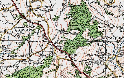 Old map of Shatterford in 1921
