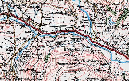 Old map of Bamford Sta in 1923