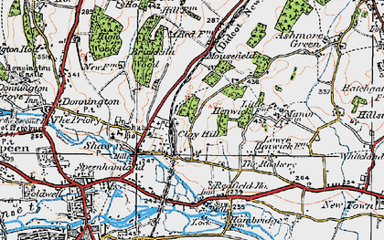 Old map of Shaw in 1919