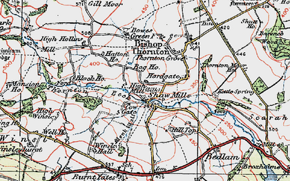 Old map of Shaw Mills in 1925