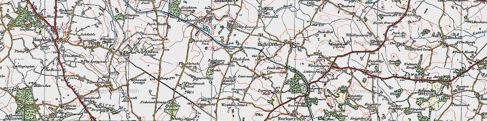 Old map of Wharf Inn in 1921