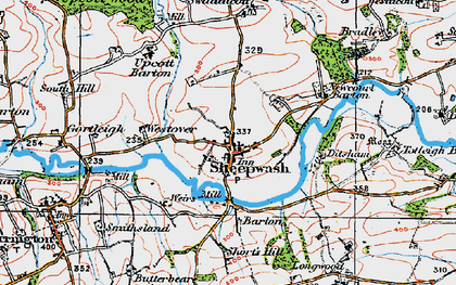 Old map of Wooda in 1919