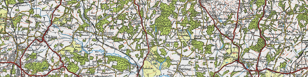 Old map of Wilmshurst in 1920