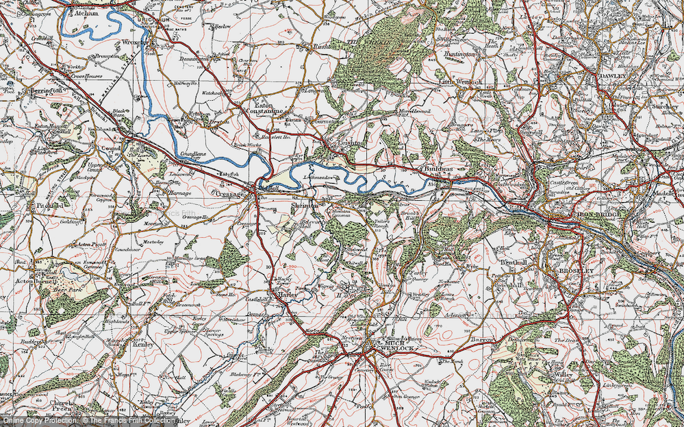 Old Map of Historic Map covering Bannister's Coppice in 1921