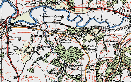 Old map of Bannister's Coppice in 1921