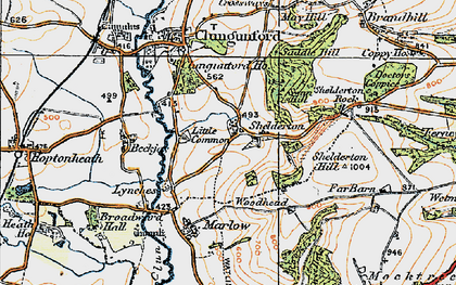 Old map of Woodhead in 1920