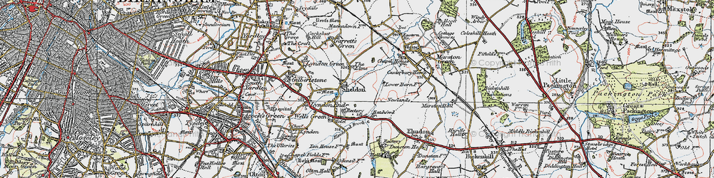 Old map of Sheldon in 1921