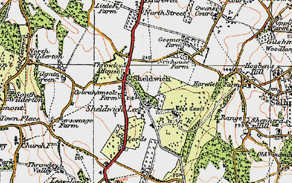 Old map of Badlesmere Court in 1921