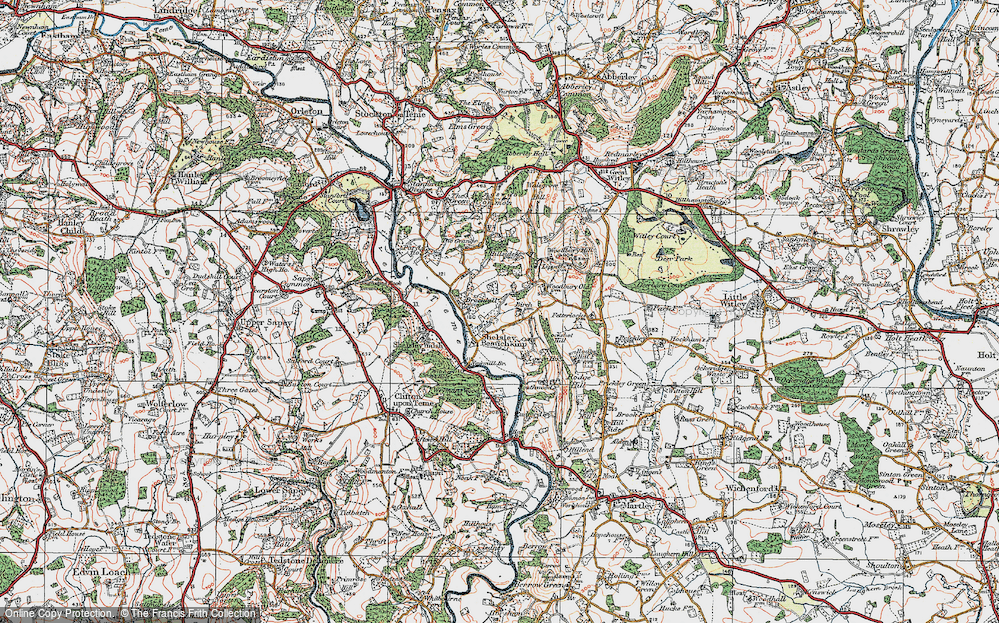 Old Map of Shelsley Beauchamp, 1920 in 1920