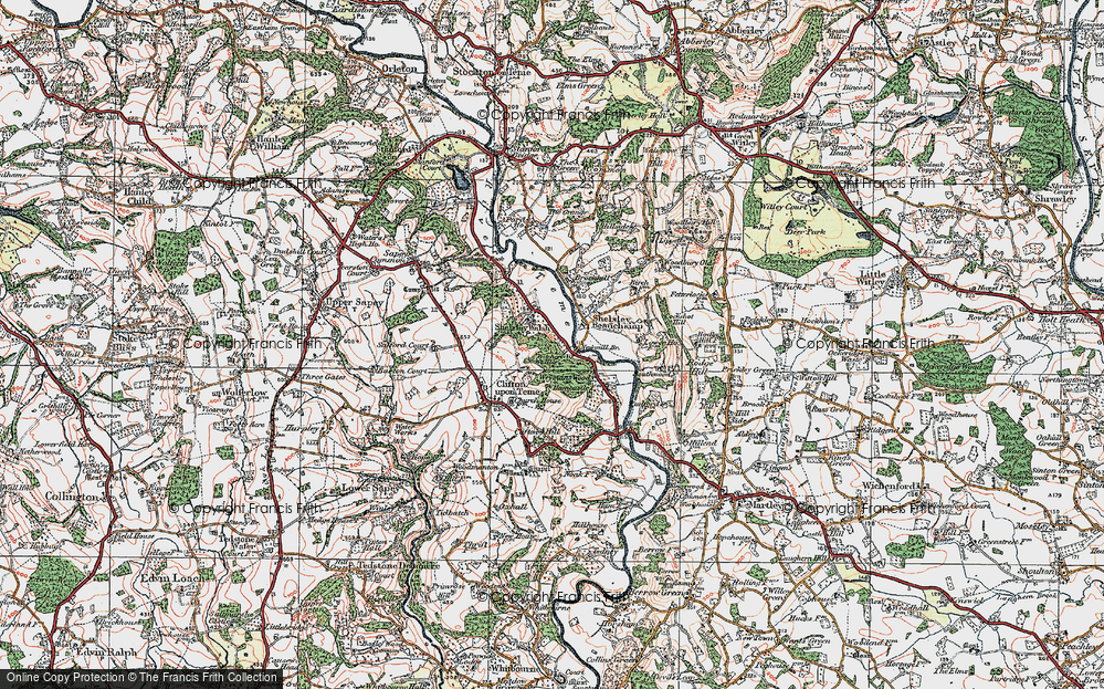 Old Map of Shelsley Walsh, 1920 in 1920