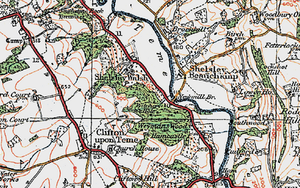 Old map of Weyman's Wood in 1920