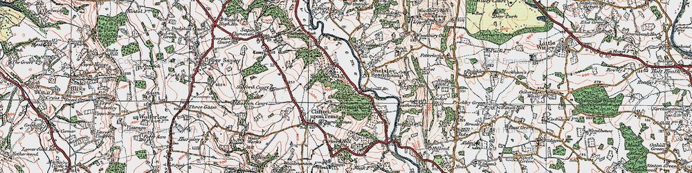 Old map of Witchery Hole in 1920