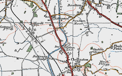 Old map of Shelton Lock in 1921