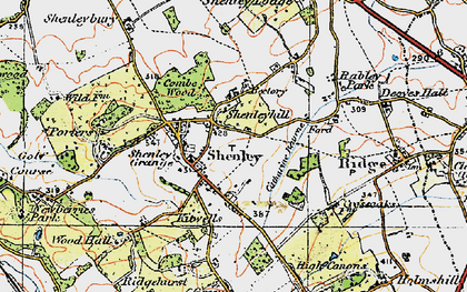 Old map of Shenley in 1920