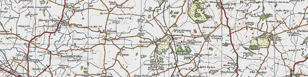Old map of White Moors in 1921