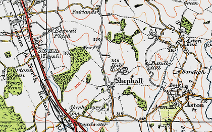 Old map of Shephall in 1920